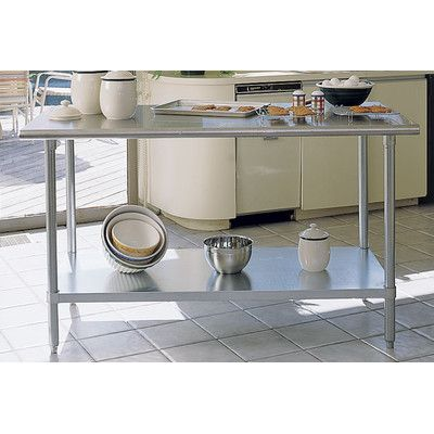 A-Line by Advance Tabco Chef's Prep Table with Stainless Steel Top   Wayfair