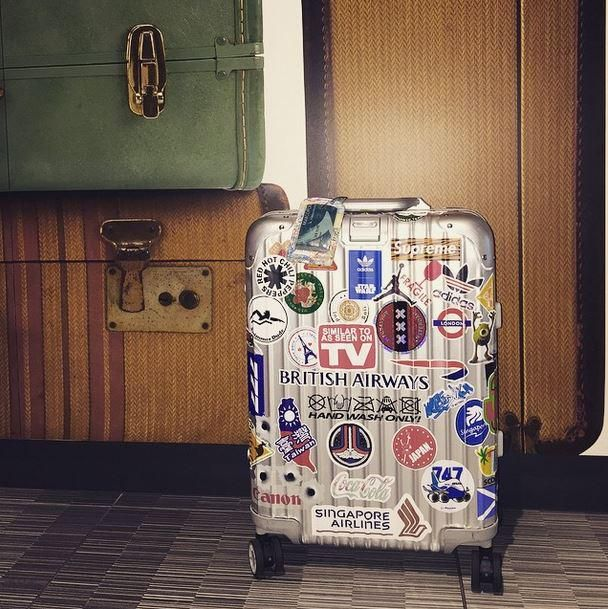 @Metops great snap of a Rimowa Topas covered in stickers ...