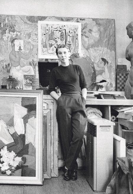 Tove Jansson in her studio.