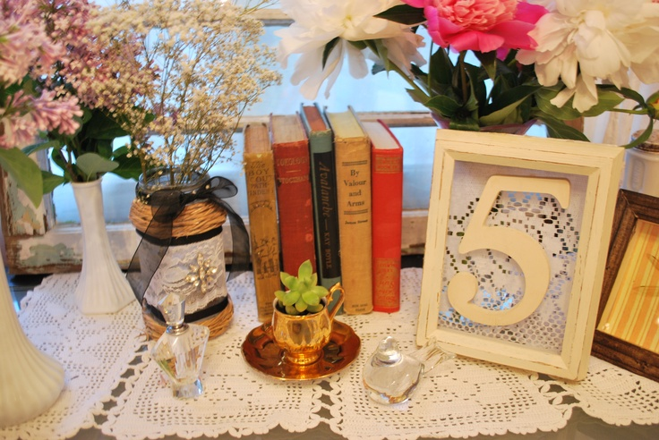 Vintage Wedding Table Decor Provided by You Wood It