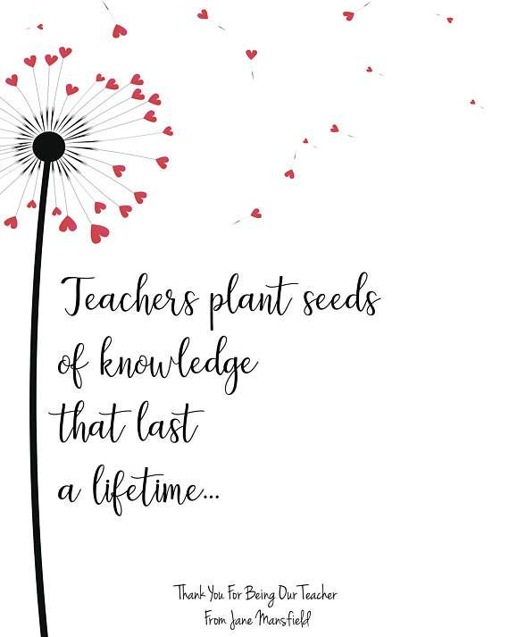 Do you need a special and unique teacher gift idea? This lovely UNFRAMED dandelion print make a fantastic personalised teacher gift. It features a dandelion puff with little heart seeds floating away and the text says Teachers plant seeds of knowledge that last a lifetime. If you are looking for preschool teacher gifts, daycare provider gifts or an end of term teacher appreciation gift then this print is perfect and is a perfect way of saying thank you!  THIS LISTING IS FOR - An UNFRAMED…