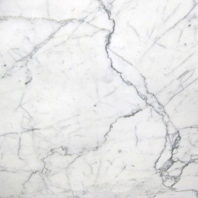 Statuario - Crisp white background with thick grey veins
