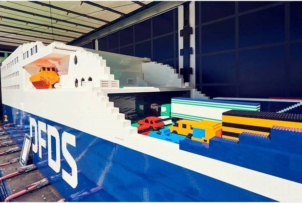 The Lego ferry will be on display in Dover on Friday and Saturday this week