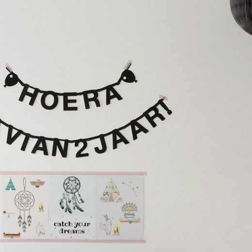Indianen kinderfeestje slinger posters