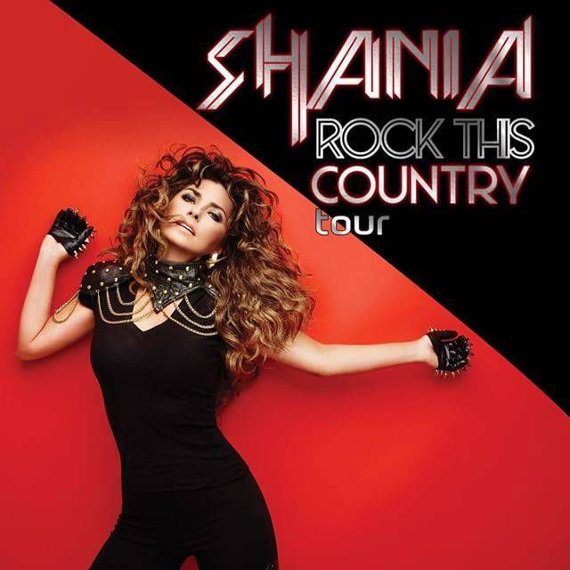 Shania Twain Rock This Country Tour starting June 2015