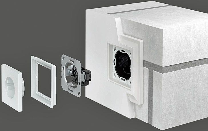 -jung-lszero montaje paredes de obra mecanismos enrasados. mecanismos enrasados JUNG LS ZERO #knx #light #mecanismos #interruptores
