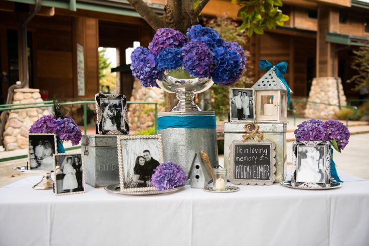 Lauren, love the idea of framed wedding pics of those remembered ....memory table(Muir Adams Photography)