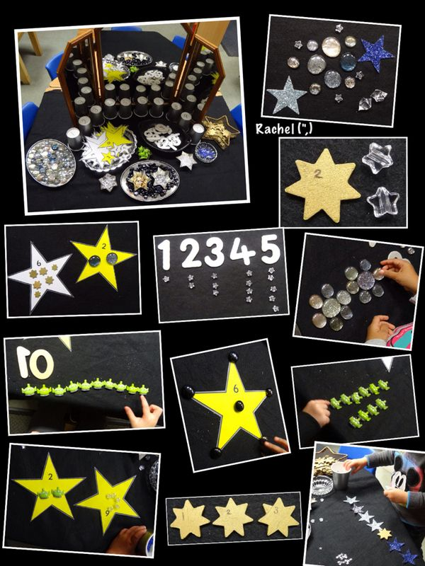 """Numbers, patterns, counting, sorting... including FREE printable stars - from Rachel ("""",)"""