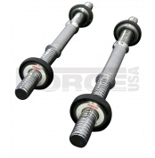 Spinlock Dumbbell Handles - 48cm  Spinlock dumbbells handles are usually the first piece of gym equipment someone will purchase. The good people at Force USA have produced another winning design with these dumbbell handles.   - 2 x 48cm chrome solid dumbbell bars with 28mm shaft size - 4 x Spin lock collars included - Total combined weight is 5.0kg (2.5kg each bar with collars)   For more info visit: http://www.gymandfitness.com.au/spinlock-dumbbell-handles-48cm.html