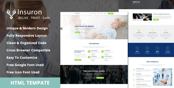 Insuron Insurance Agency Html5 Template Html5 Templates
