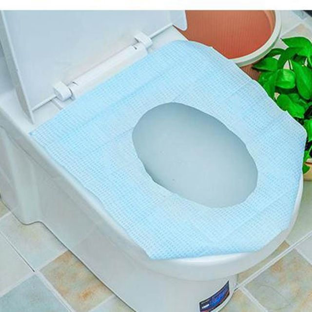 Urijk 10pcs Disposable Toilet Seat Cover Travel Toilet Mat Cushion