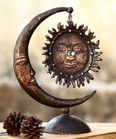 Look at this #zulilyfind! Sun & Moon Table Clock by SPI Home #zulilyfinds