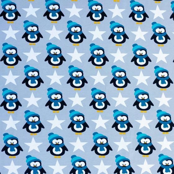 Beautiful, soft, single jersey knit with penguins.  Excellent quality jersey knit and a great choice for apparel.