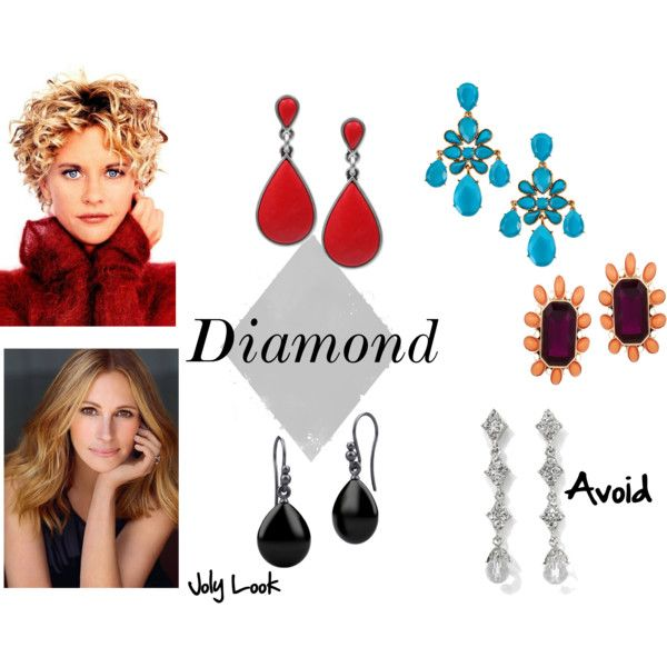 Earrings for diamond face shape