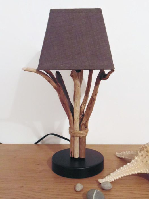1000 id es sur le th me lustre en bois flott sur for Lampe en bois flotte creation