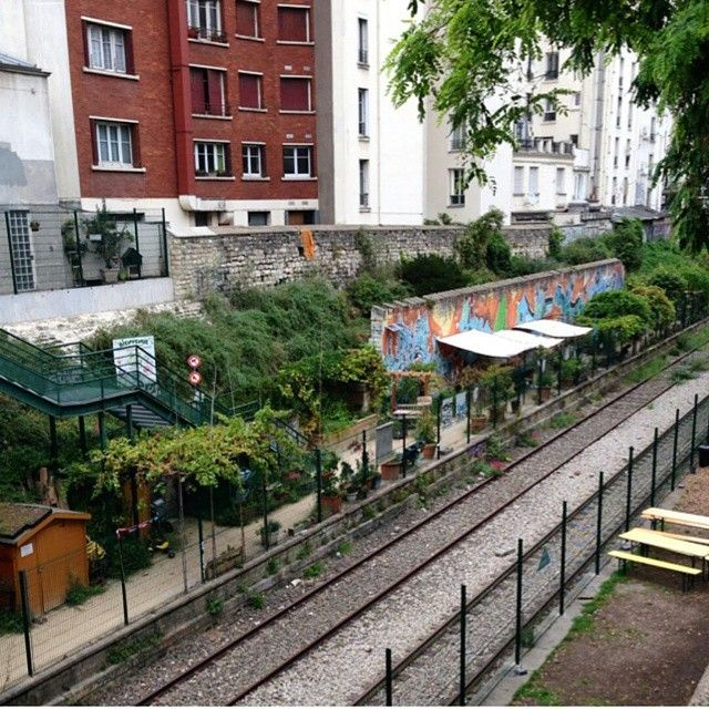 """A community garden initiative in Paris, France on an abandoned rail line. _______________________________ Thanks for sharing this photo @farmersroots…"""
