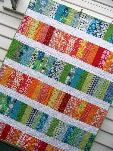 Simple, colorful quilt