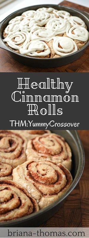 Healthy Cinnamon Rolls!  These rolls taste like real cinnamon rolls but don't use any sprouted flours.  They are a crossover for Trim Healthy Mamas.
