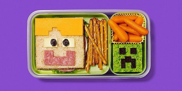 8-bit lunchbox mod. Cute bento lunch box idea for your little gamer.