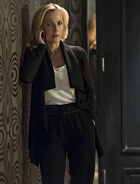 Gillian Anderson as Stella Gibson in The Fall.  Photograph: Helen Sloan/BBC/The Fall 2 Limited/Helen Sloan