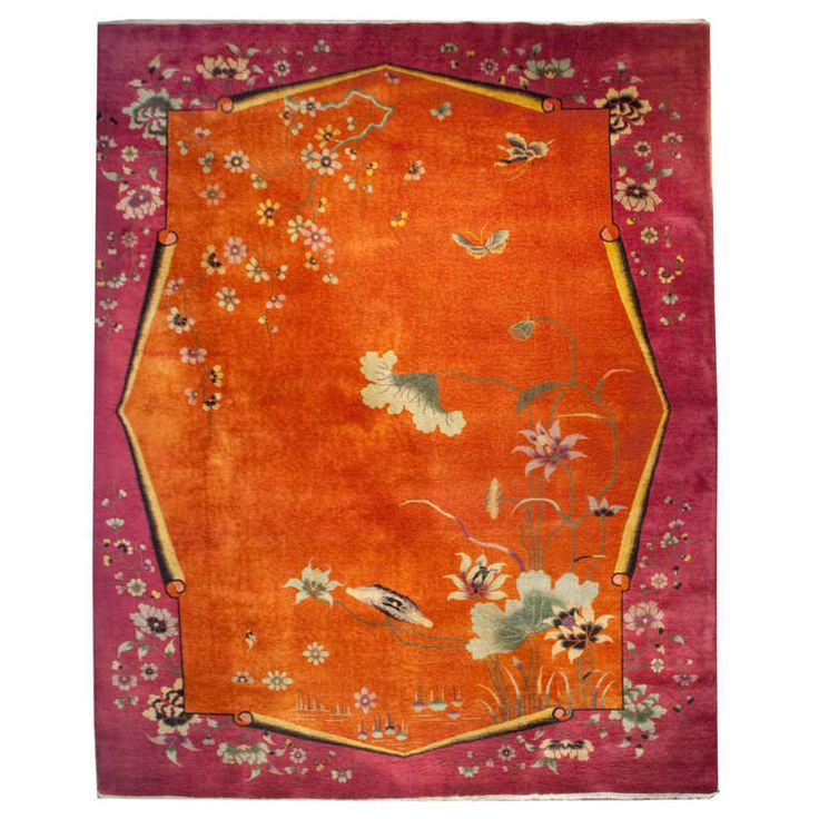 Chinese Art Deco Rug   From a unique collection of antique and modern chinese and east asian rugs at http://www.1stdibs.com/furniture/rugs-carpets/chinese-rugs/