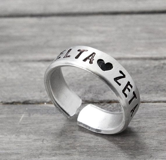 Delta Zeta Ring Sorority Jewelry Delta Zeta by PureImpressions,