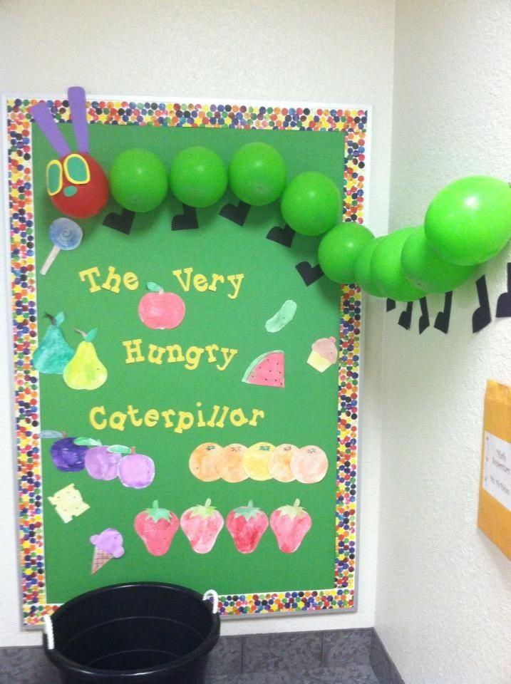 The very hungry caterpillar bulletin board