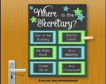 School Secretary Gift, Office Gift, Door Decoration, Gift for Secretary, Secretarial Sign, School Secretary Office Gift, Wall Decor, Print