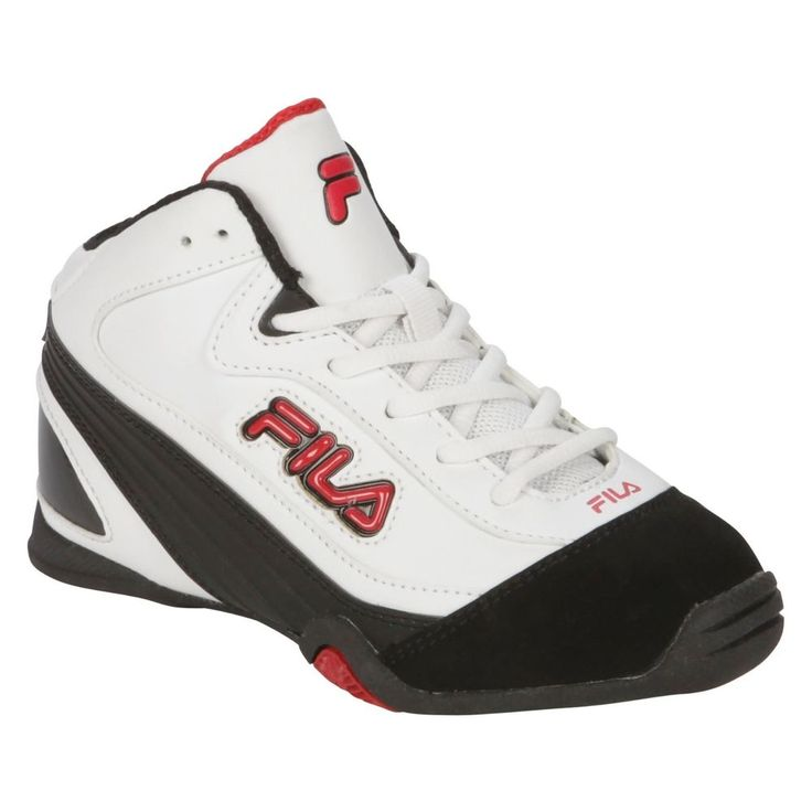 Fila shoes Slingshot 2 Athletic Sneakers white black red boys kids ...