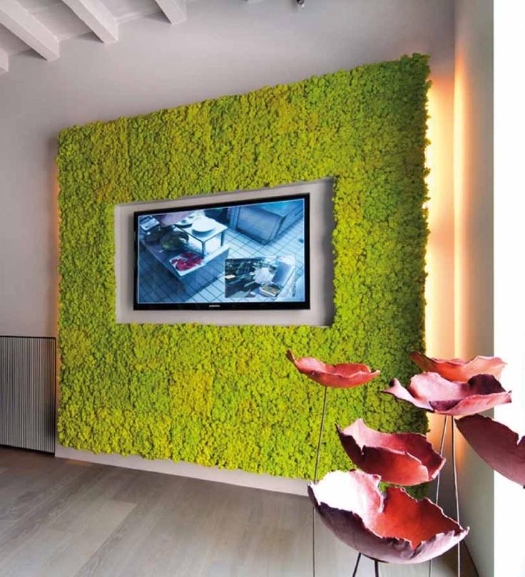 Revestimiento realizado con jardin vertical mosswall for Jardines pequenos para oficina