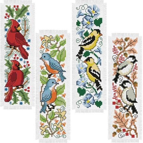 Craftways® Four Seasons Birds Bookmarks Counted Cross-Stitch Kit Was: $19.99                     Now: $14.99