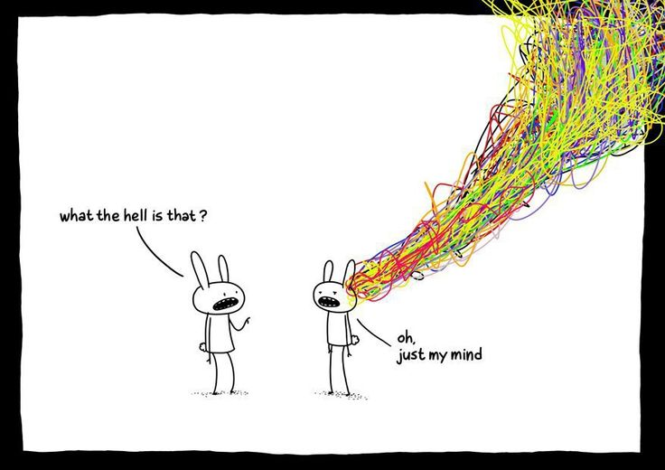 Oh, just my mind.