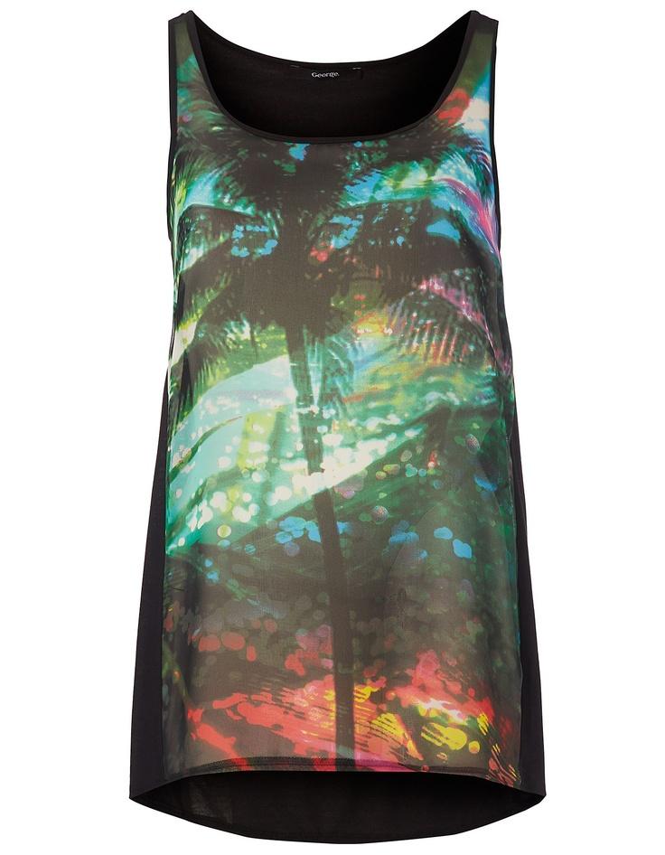 Sheer Palm Tree Vest | Women | George at ASDA