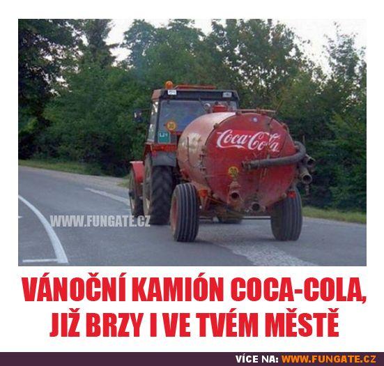 Vánoční kamión Coca-Cola, již…