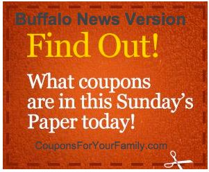 Coupons coming out sunday