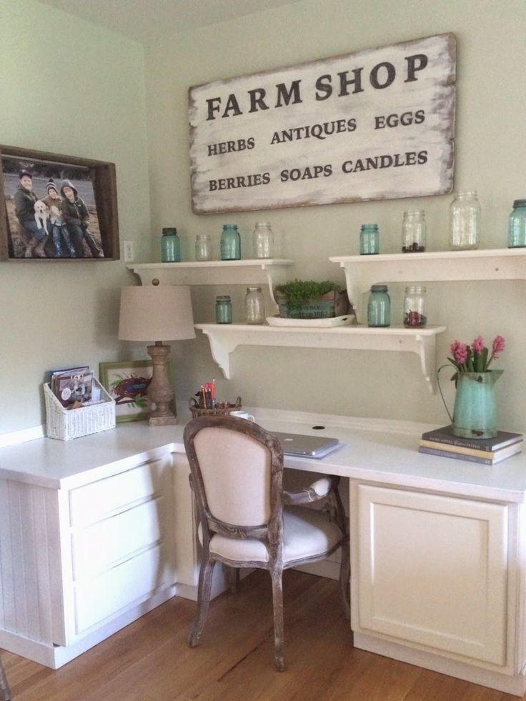Farmhouse Decor Clean Crisp Organized Farmhouse: Best 25+ Farmhouse Office Ideas On Pinterest