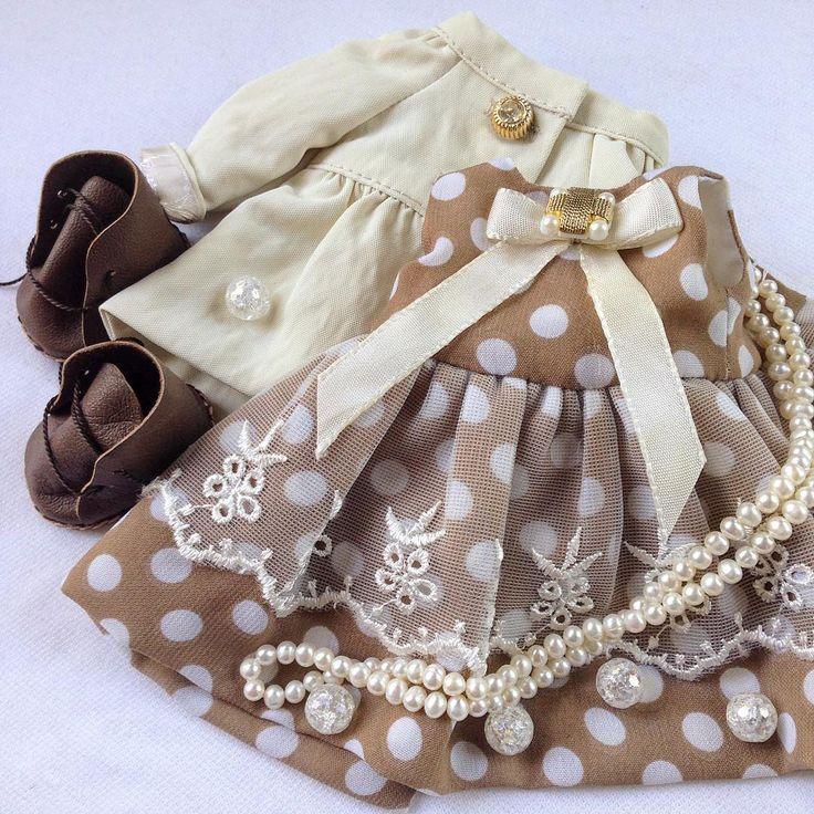 И снова любимый горошек... #платье #платьевгорошек #горох #одеждадлякукол…
