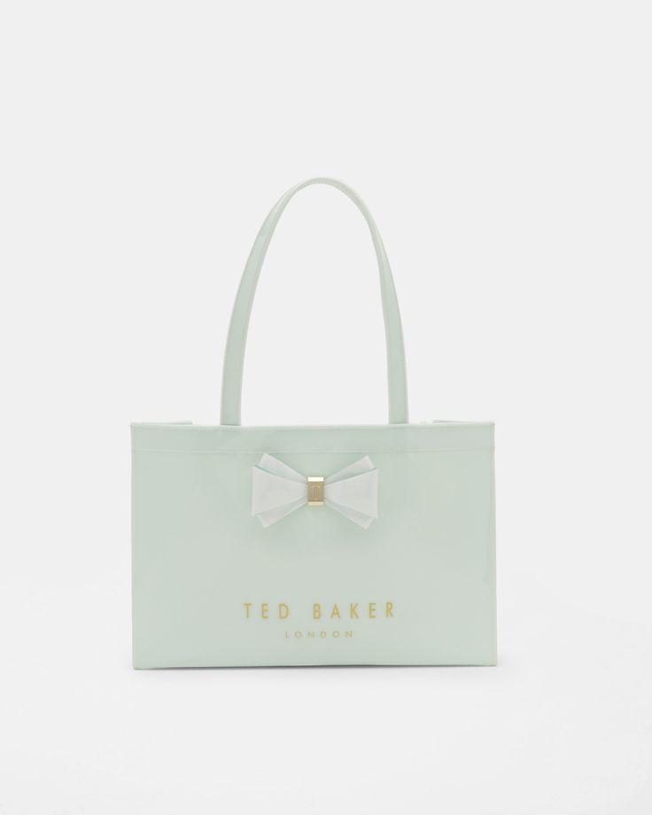 Bow detail East West Ted Baker shopper bag - Light Green | Bags | Sale