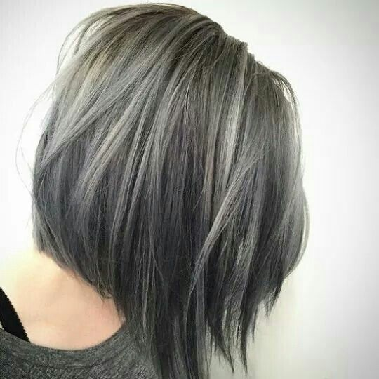 Funky young Grey hair