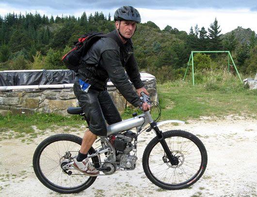 GAS ENGINE Four-Wheel Mountain Bike | Motorized Mountain Bike – Traveling Light