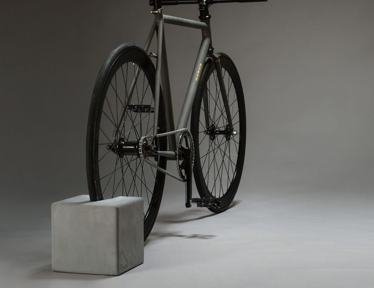 Keep your bike safe, sound, and mounted securely with the BikeBlock Concrete Bike Stand by urbanature.