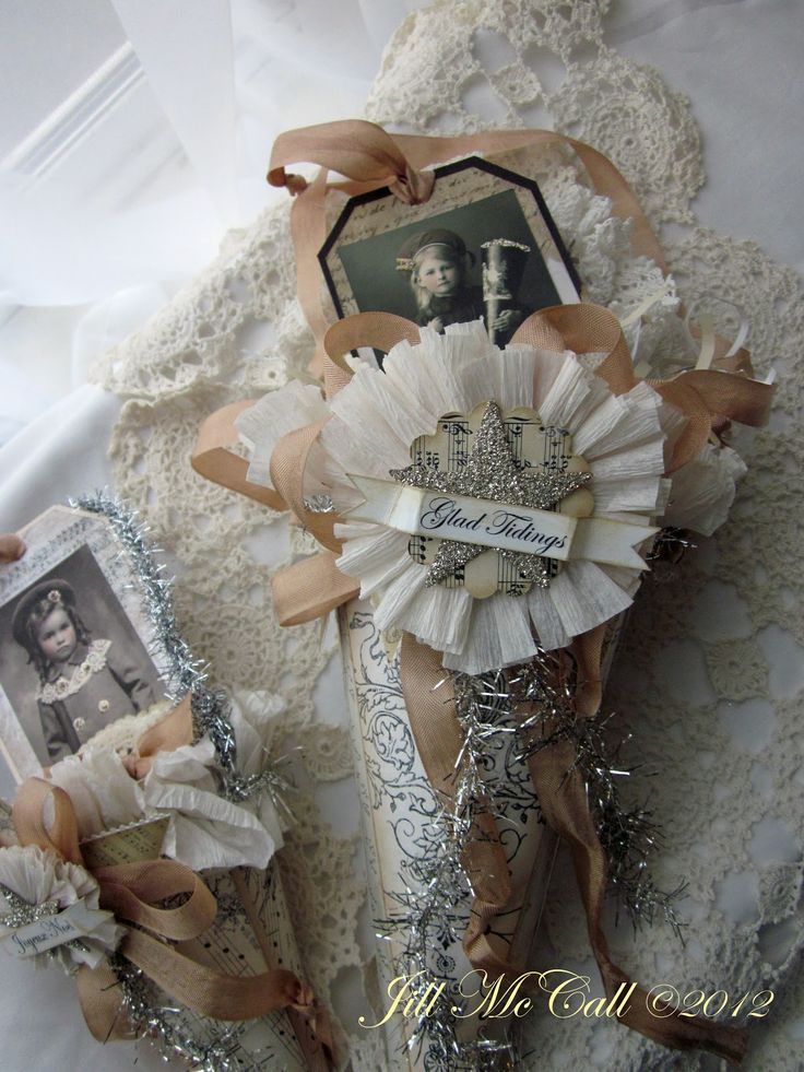 Feathers & Flight: Victorian Christmas Paper Cones
