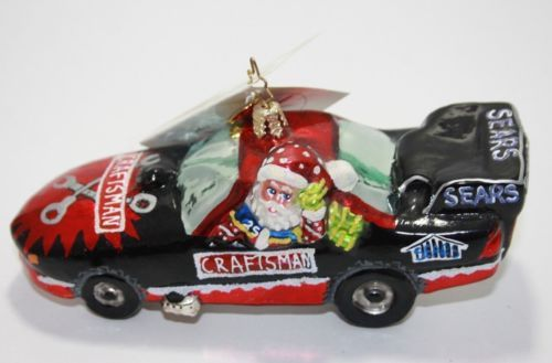 2003-EXCLUSIVE-CHRISTOPHER-RADKO-SEARS-CRAFTSMAN-NHRA-FUNNY-CAR-ORNAMENT-NWT