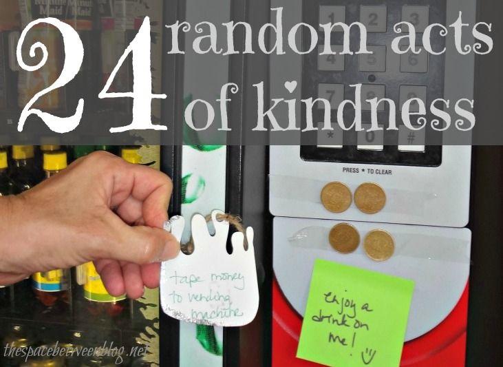 24 random acts of kindness ideas