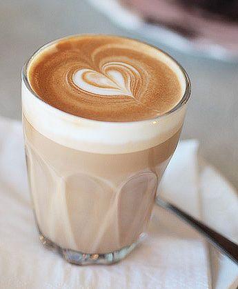 latte art in a glass jar =)