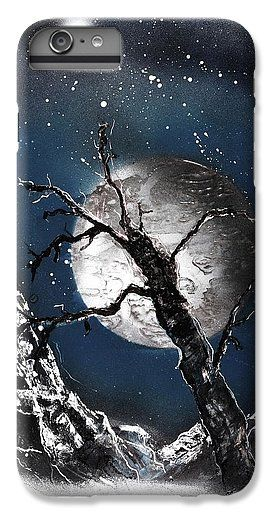 Night Of Wolves IPhone 6 Plus Case Printed with Fine Art spray painting image Night Of Wolves by Nandor Molnar (When you visit the Shop, change the orientation, background color and image size as you wish)
