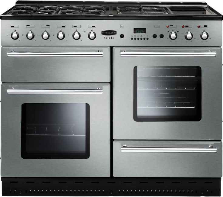 RANGEMASTER Toledo 110 Gas Range Cooker - Stainless Steel & Chrome, Stainless Steel