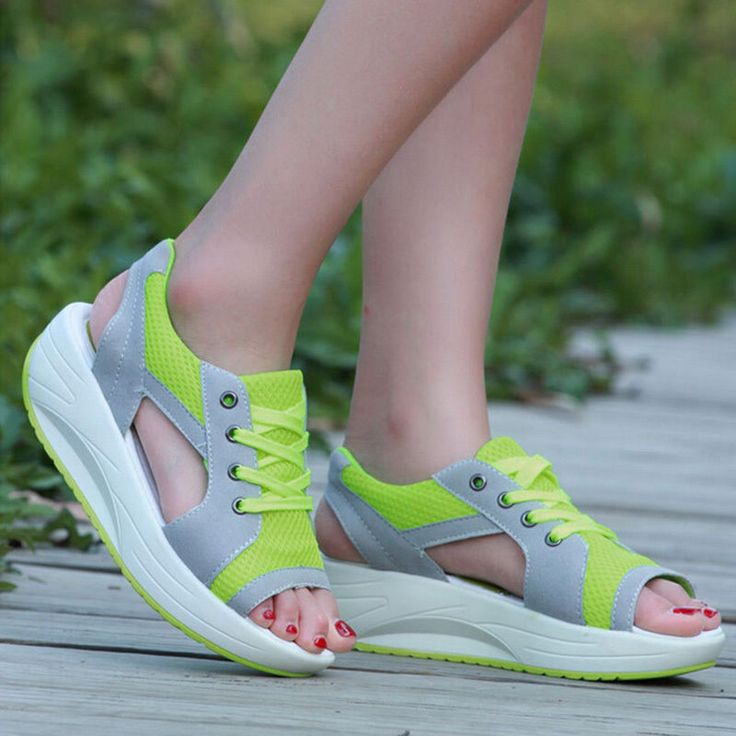 Lady's Peep-Toe Trainers Sandals Walking Sport Sneaker Thick Sole Athletic Shoes