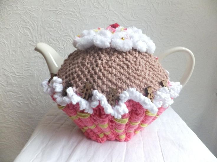 Looking for your next project? You're going to love Charity Cupcake Tea Cosy by designer mypdfpatterns.