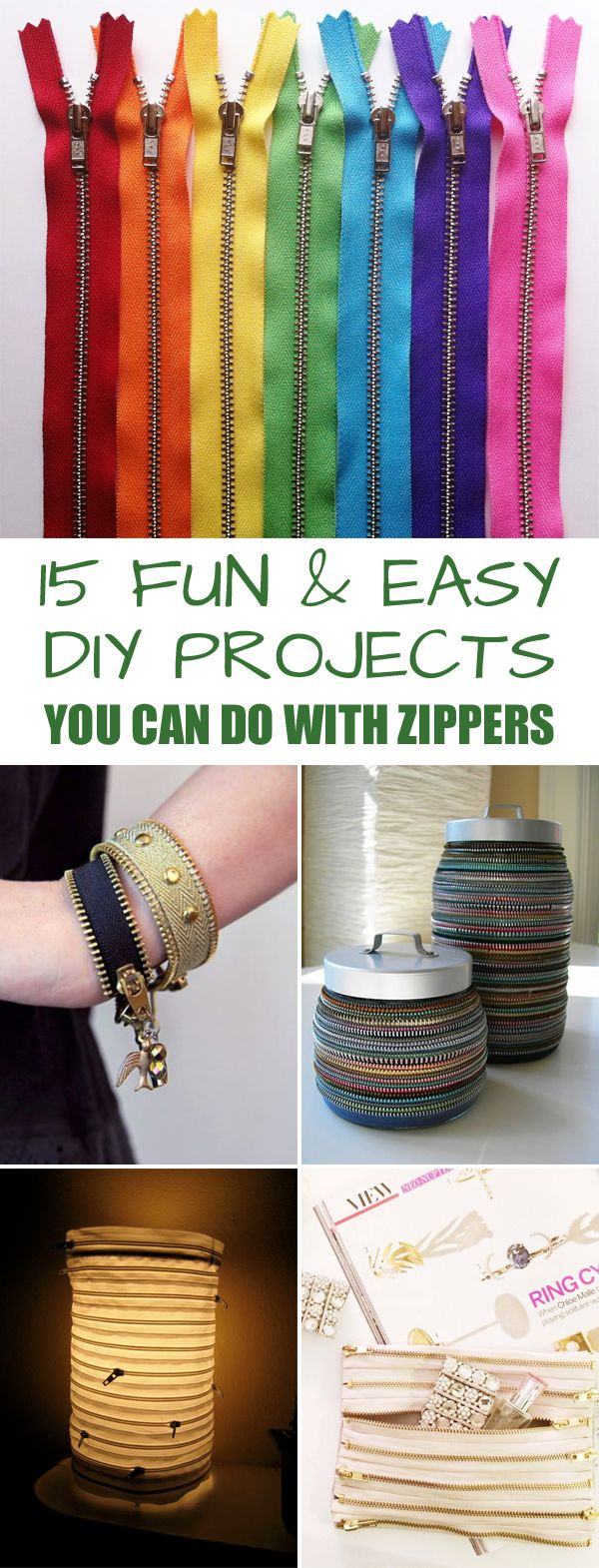 15 Fun and Easy DIY Projects You Can Do with Zippers